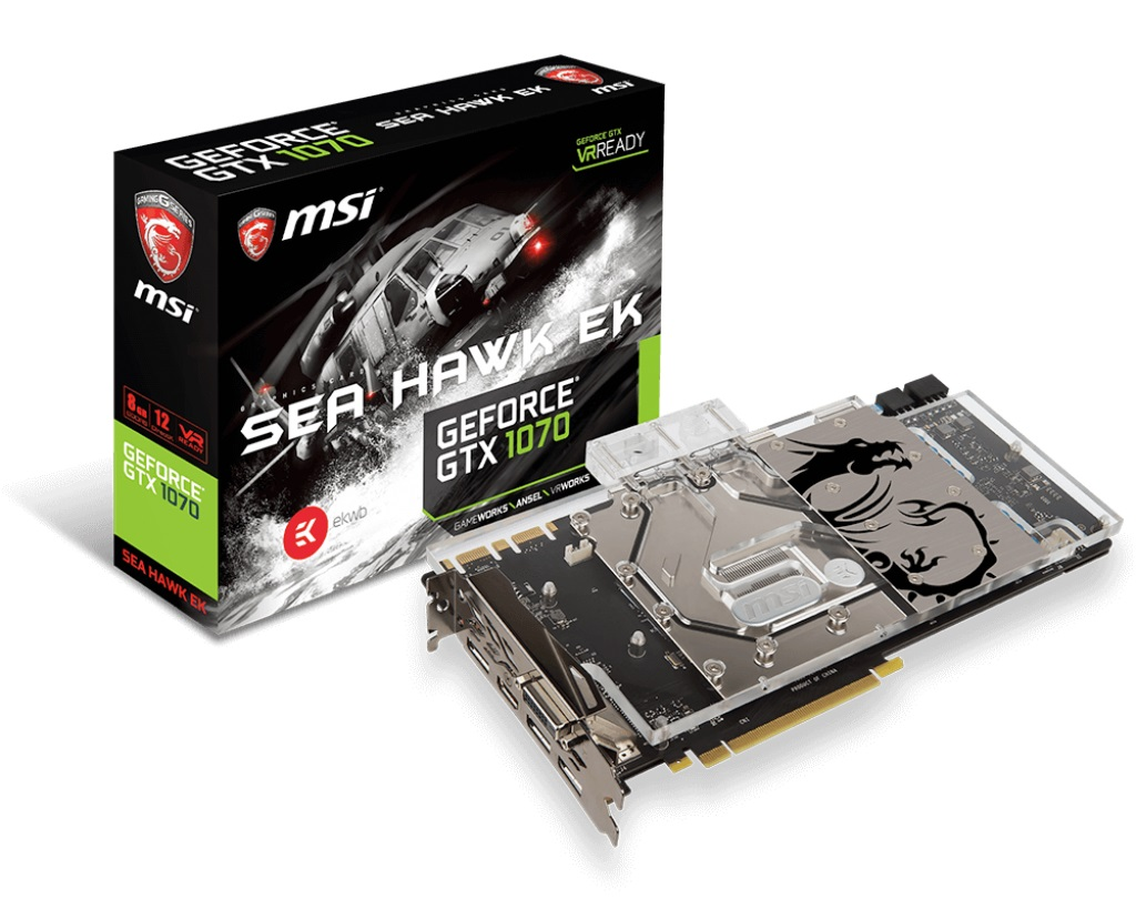 Видеокарта MSI GTX 1070 SEA HAWK EK X