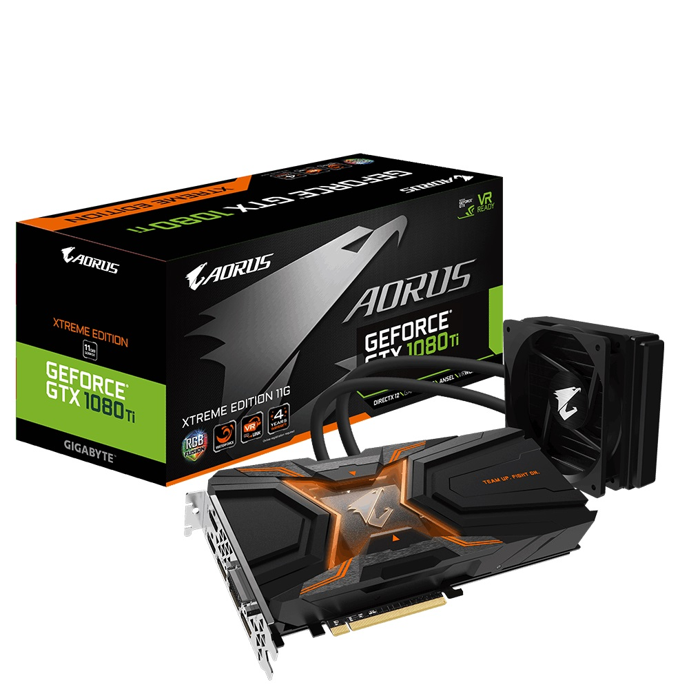Видеокарта Gigabyte AORUS GTX 1080 Ti Waterforce Xtreme Edition 11GB (GV-N108TAORUSX W-11GD)