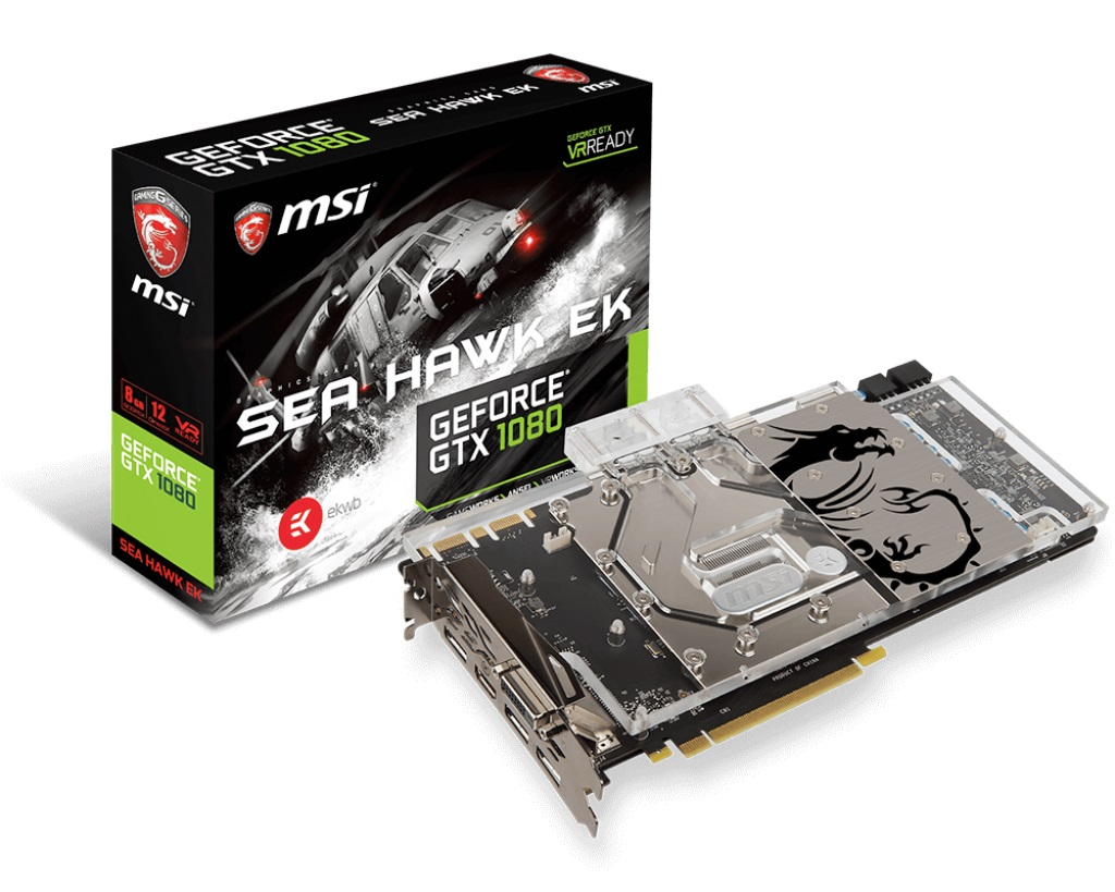 Видеокарта MSI GTX 1080 SEA HAWK EK X