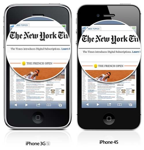 iphone 3G vs iphone 4s